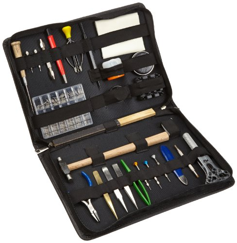 Berger & Schröter Uhrenwerkzeugset, 27 verschiedene Werkzeuge, Ledermappe
