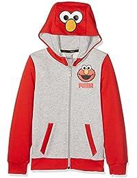 Puma chaqueta Sesame Street Chaqueta Sudadera infantil, infantil, Sesame Street Sweat Jacket, high risk red, 8 años (128 cm)