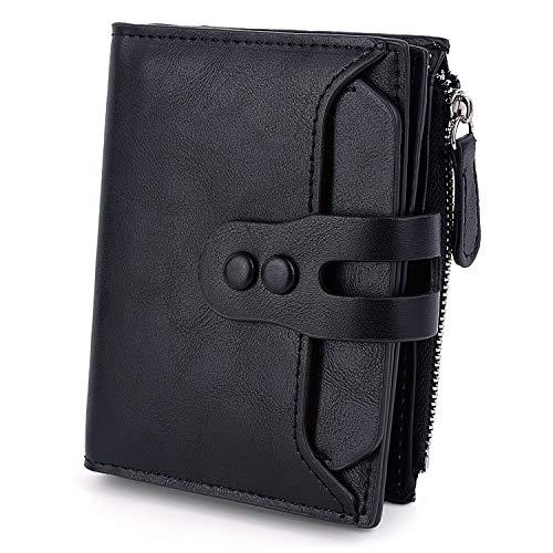 UTO Portafoglio Donna stile elegante e semplice in Morbida Pelle Sintetica e RFID Blocco Sicurezza porta a Carta di credito e Moneta