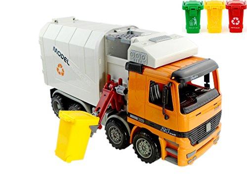 eitenlader Müll-LKW, Müll-LKW,Müllwagen, grün (Dickie-spielzeug-müll-lkw)