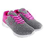 Briix Women Mesh Sports Shoes Running Walking Training and Gym Shoes Grey and Pink [BR019]