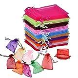 EQLEF® Packung mit 50 Organzabeutel Schmuck Geschenk-Beutel-Beutel-Verpackung für Party / Spiel / Wedding Verwenden
