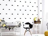 Kit stickers muraux chambre enfant nuages noirs Pièces Ciel décoration de la m
