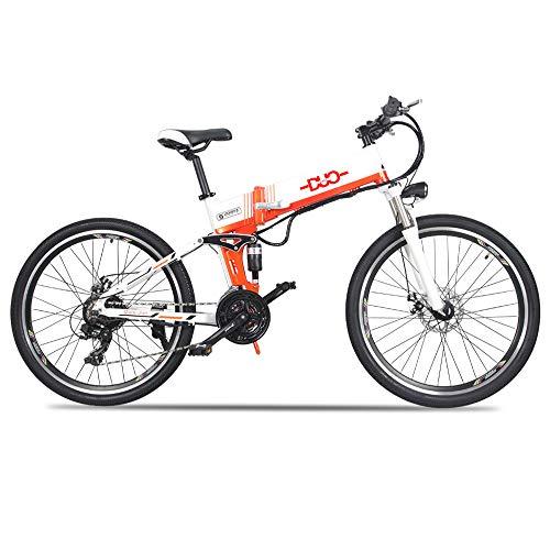 GUNAI Bicicleta Electrica 48V 500W Bicicleta de Montaña 21 Velocidades 26 Pulgadas con Batería de Litio Extraíble de Nueva Energía