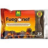 Massó Fuegonet, Pastillas de encendido ecológicas para barbacoas y chimeneas, 1 paquete de 32 pastillas