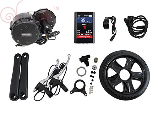 Full Color Panel 36V 250W Bafang Mittelmotor 8fun BBS01 Ebike Conversion Kits With Integrated Controller and LCD