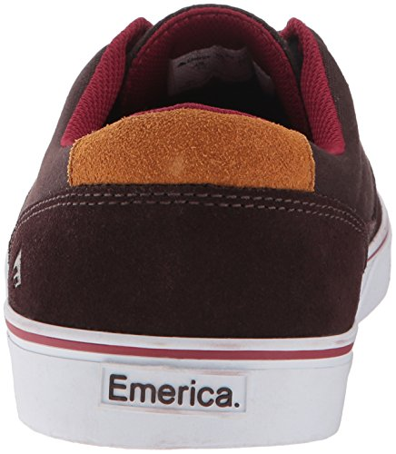 Emerica - Provost Slim Vulc X Toy Machine, Scarpe da skateboard Uomo marrone / bianco