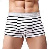 BaZhaHei Männer Unterwäsche Gestreifte Boxer Briefs Shorts Bulge Pouch Klassisch Baumwolle Jugend Boxershorts Atmungsaktiv Unterhose