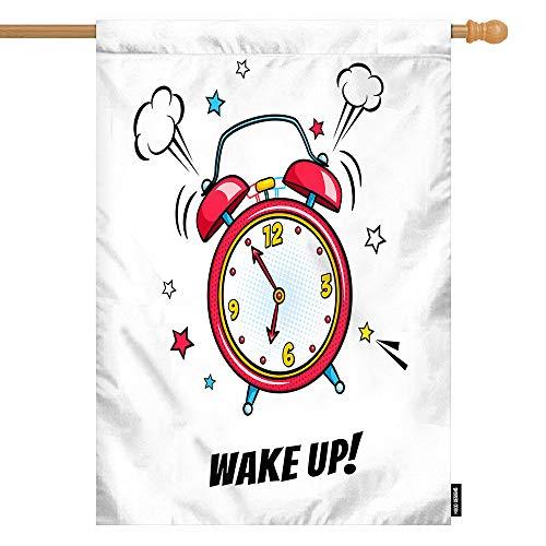HGOD DESIGNS Rote Hausflagge, Surreal, Graffiti, offener Mund mit Skate-Design, Willkommen-Dekoration, Haus-Flaggen, Baumwolle Leinen, wasserdicht für den Garten, 71,1 x 101,6 cm, Hoflg-1276, 28