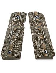 Cool Hand Grips 1911 G10 pour Pistol Officer Compact, Vis gratuite, Tenir En Texture Coyote Couleur
