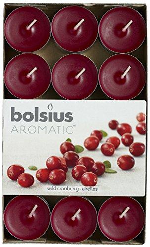 Aromatischen Wild Cranberry Duft Teelicht, Paraffin Wachs, Kastanienbraun, 30Stück