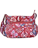 Oilily Winter Leafs Shoulder Baby Bag - Ruby