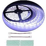 BIHRTC 12V DC IP65 Wasserfest Kaltweiß 6500-7000K 5630 SMD 5M/16.4ft 300 LED Streifen Lichtleiste Lichtband led band für Küchenschrank Schlafzimmer Startseite dekorative Beleuchtung Innenraum
