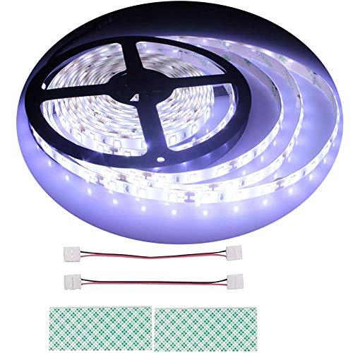 BIHRTC 12V DC IP65 Wasserfest Kaltweiß 6500-7000K 5630 SMD 5M/16.4ft 300 LED Streifen Lichtleiste Lichtband led band für Küchenschrank Schlafzimmer Startseite dekorative Beleuchtung Innenraum -