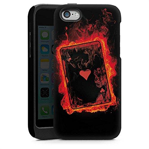 Apple iPhone 5 Housse Étui Silicone Coque Protection Ass C½ur Cartes Cas Tough brillant