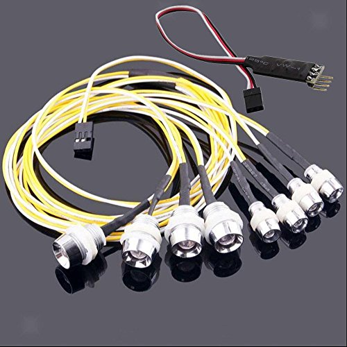 ELECTROPRIME 8 Bright LED Lamp Light with RC Circuit Panel for 1/10 1/8 RC HSP Model Cars