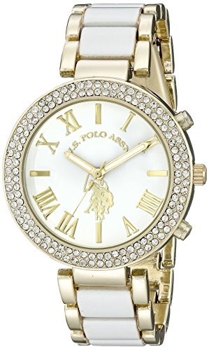us-polo-association-femme-usc40065dor-et-blanc-montre-bracelet