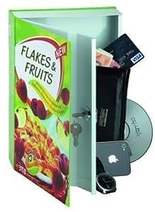 Coffre-Fort/Tirelire en forme de livre, modèle Flakes & Fruits