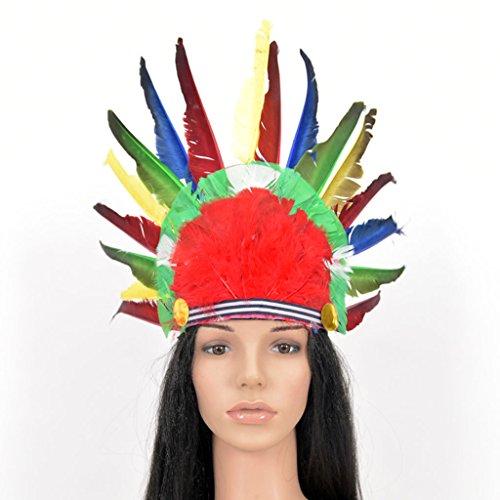 Halloween COS Feder Hut indischen Farbe Kopfschmuck