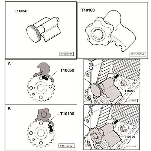 CCLIFE Kit d'outils pour la courroie de distribution, calage de soupape, blocage du vilebrequin