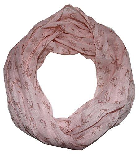 Anker Marine Damen Loop Schal aus hochwertiger Seide & Baumwolle (S rosee)