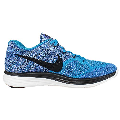 Nike Uomo Flyknit Lunar3 scarpe da corsa Blu / Nero / Blu / Bianco (Bl Lagoon / Blk-Gm Ryl-Smmt Wht)