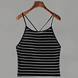 Women's Vest Tops, Wawer Women Striped Tank Top Sleeveless T-Shirt Tops Great For Sports/Dance/Club/Party/Daily/Beach from Wawer