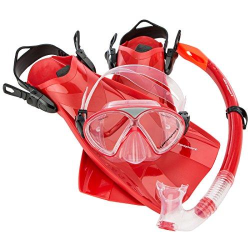 Ultrasport Kinder Schnorchelset Aqua Fun, bestehend aus Tauchmaske, Schnorchel und Flossen