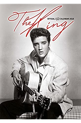 imagicom imacal208Calendario de pared de Elvis Presley, papel, gris, 0,1x 30,5x 42.5cm