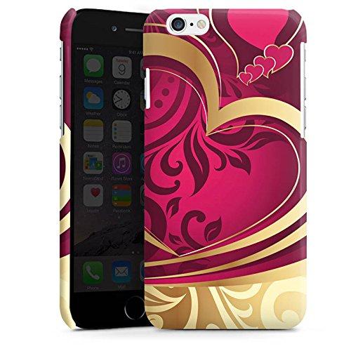 Apple iPhone 6 Plus Housse étui coque protection Amour Amour C½ur Cas Premium brillant