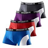 Le Jogger Hipster, 4er Pack Baumwoll-Hipster, Boxershorts, Short Boxer, Neu (5, farb-set)