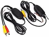 OBEST NIU Auto 2.4G Wireless Funk Transmitter Empfänger RCA Reveiver Sender 12V für Auto KFZ Rückfahrkamera