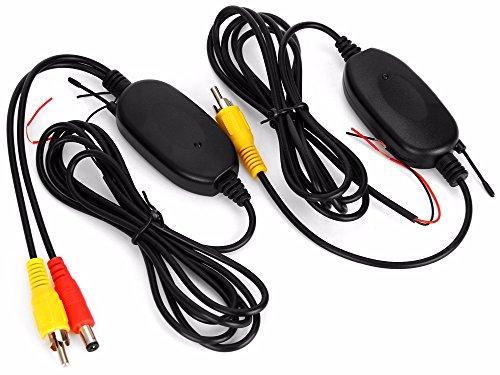 OBEST NIU 2,4 GHz Inalámbrico Vídeo RCA Transmisor y Receptor Kit para la Cámara de Reserva del Coche de la Opinión Posterior del Revés del Monitor Sistema de Estacionamiento