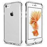 Coque iPhone 7, Coque iPhone 8 avec [Protection Écran en Verre Trempé], Yokase Housse iPhone 8 / Housse iPhone 7 Bumper TPU Souple etArrière PC Rigide Case Anti-Rayures Anti Choc Coque iPhone 8 Transparent -4,7''