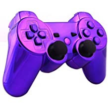 OSTENT Kit di pulsanti di alloggiamento della scatola di shell per controller completo compatibile per controller Sony PS3 Bluetooth - colore viola