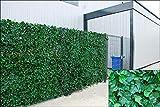 Große Ivy Wonderwal Künstliche Blatt Heckenschere Platten auf Rolle Sichtschutz Zaun, grün, 2,0m x 3m