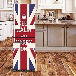 QJXX Kühlschrank Tür Aufkleber Tür Kühlschrank Aufkleber DIY Selbstklebende Abnehmbare Wasserdichte PVC Aufkleber Für Kühlschrank Covering Full Wall Decal Flur Wandbild,60 * 150Cm