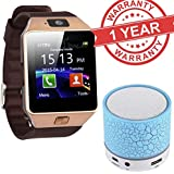 MacBerry Sony Xperia XA Dual Compatible Bluetooth Smart Watch DZ09 Phone With Camera And Sim Card & SD Card Support With Free LED Light Mini Bluetooth Speakers (Random Colour)