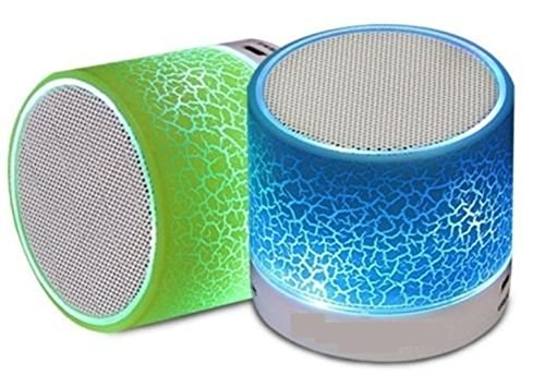 Drumstone Quims Wireless LED Bluetooth Speakers and FM Radio for all Smartphones (Assorted Colour)