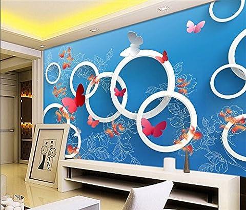 300 cmX 210 cm Einfache, moderne, kalten, blauen Ton nahtlos angepasste großes Wandbild Schlafzimmer Wohnzimmer Sofa TV-Kulisse 3D Wallpaper 3D, (Wood Duck Ton)