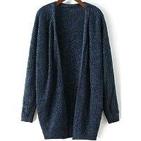 Genix Women Woolen V-Neck Cardigan Heavy Kadai Daffodil Fabric Cardigan Winter Wear Pure Wool Cardigan for Women Free…
