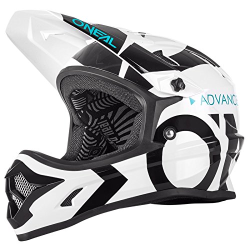 O\'Neal Backflip RL2 Slick Fahrrad Helm Downhill MTB Mountain Bike FR DH Fullface, 0500-L, Farbe Weiß, Größe S