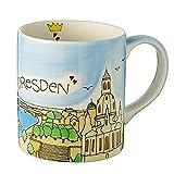 Tasse Dresden AUGUST handbemalt | Souvenir | Mila Tasse