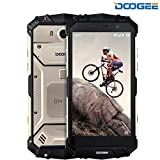 Smartphone ohne Vertrag, DOOGEE S60 IP68 Outdoor Handy - 4G Android 7.0 Smartphones WasserdichteShockproof - Helio P25 Octa-core - 5.2 Zoll FHD - 5580mAh Batterie 12V2A - 21.0MP Kamera NFC GPS- Gold