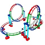 82pc Loco Mono Yellow Roller Coaster Train And Track Play Set