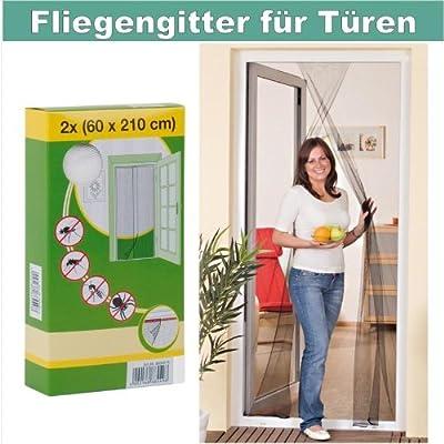 Protección Insectos Tela Mosquitera para puertas con Cinta de velcro 110x210 cm