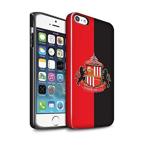 Offiziell Sunderland AFC Hülle / Glanz Harten Stoßfest Case für Apple iPhone 5/5S / Pack 6pcs Muster / SAFC Fußball Crest Kollektion Rot/Schwarz