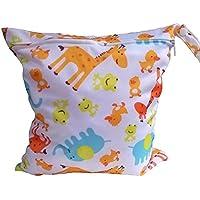 J * Myi bébé Sac Fermeture Éclair imperméable lavable en machine réutilisable en tissu pour bébé Sac à langer