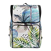 Tropical Beach Palm Trees Abstract Summer Coconut Backpack Hiking Bags Rucksack for Girls Boys