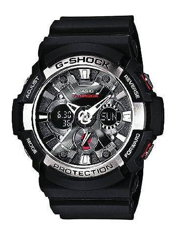 Casio G-Shock – Montre Homme Analogique/Digital avec Bracelet en Résine – GA-200-1AER